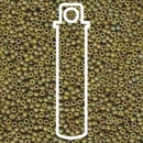 11/0 SEED BEAD-APX 23.5GM FANCY FROSTED LIGHT OLIVE IRIS